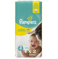 Pampers Premium Protection 3nr. ( 5 – 9 kg ) 100vnt.