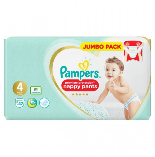 Pampers Premium Protection Nappy Pants 4 dydis ( 9 - 15 kg ) 94 vnt.
