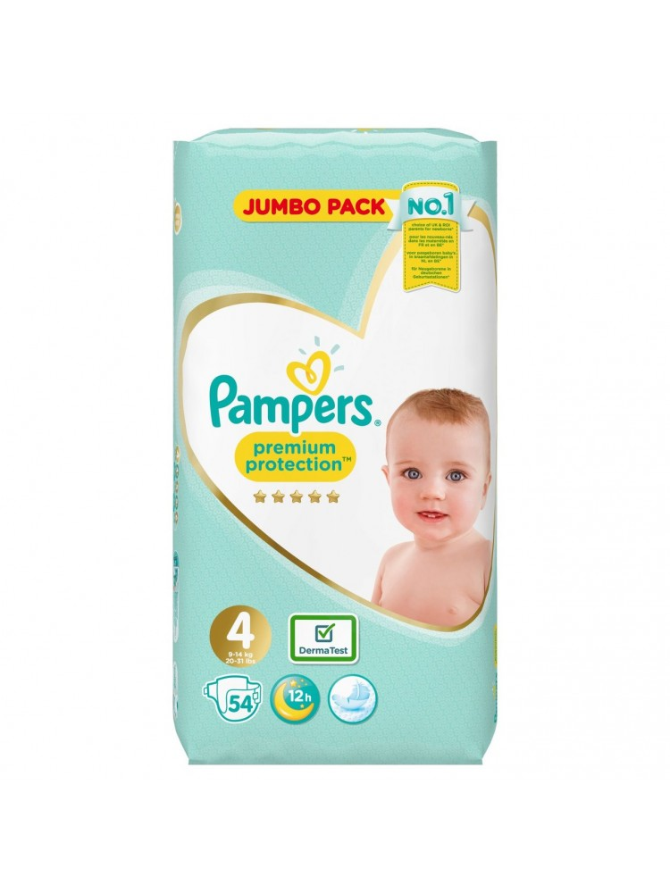 Pampers Premium Protection 4 dydis ( 9 – 14 kg ) 108 vnt.