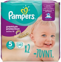 Pampers Active Fit sauskelnės 5 dydis ( 11 – 23 kg ) 70 vnt.