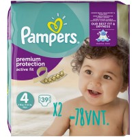 Pampers Active Fit sauskelnės 4 dydis ( 7 – 18 kg ) 78 vnt.