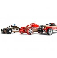 Žaislinis automobilis Automoblox Mini 3vnt. S9 police/X9 fire/T900 rescue
