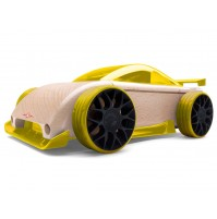 Žaislinis automobilis Automoblox Mini C9-R sportscar yellow
