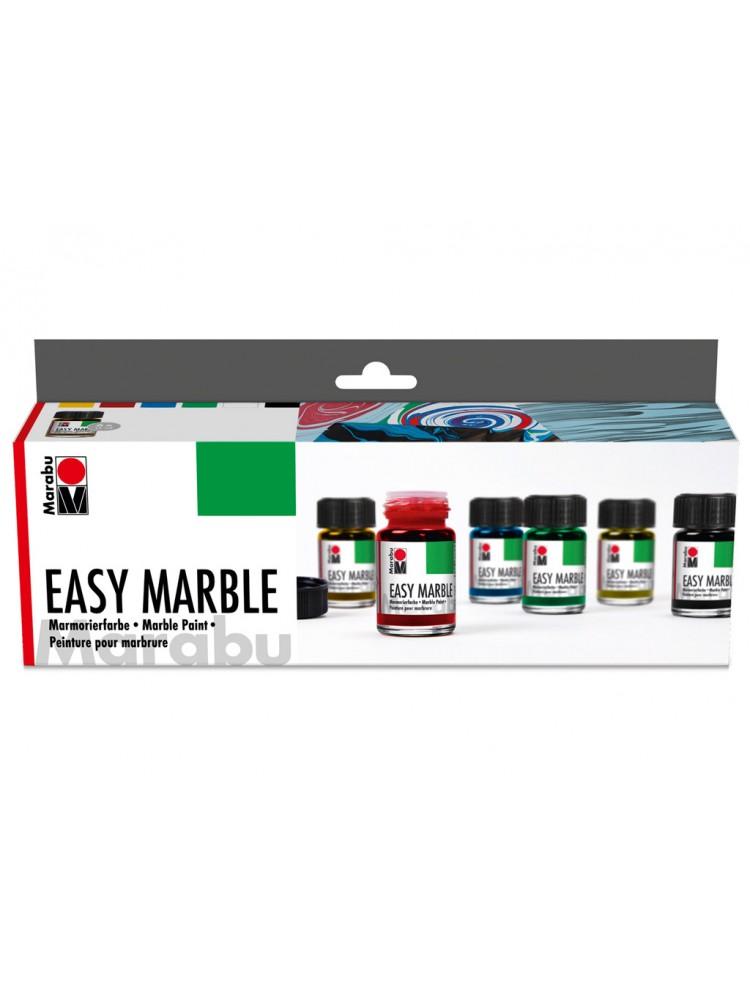 Dažai marmuriniam efektui sukurti Marabu Easy Marble 6x15ml