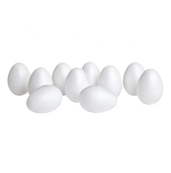 Putų polistirolo kiaušinis 6x4cm baltas