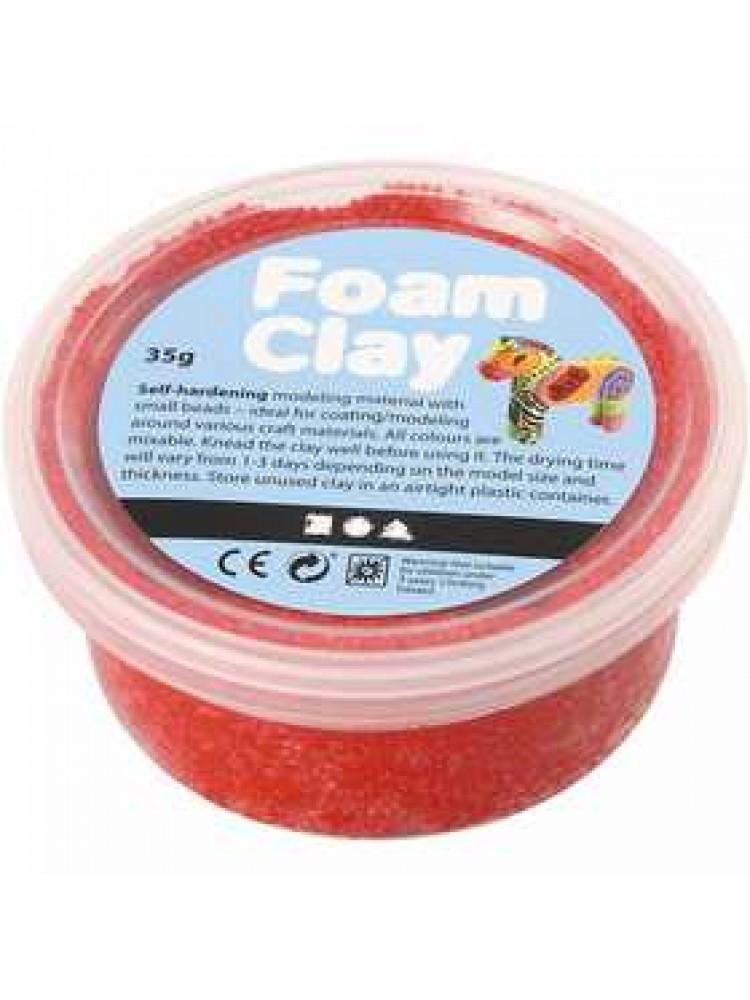 Burbulinis modelinas - raudona spalva 35 gr
