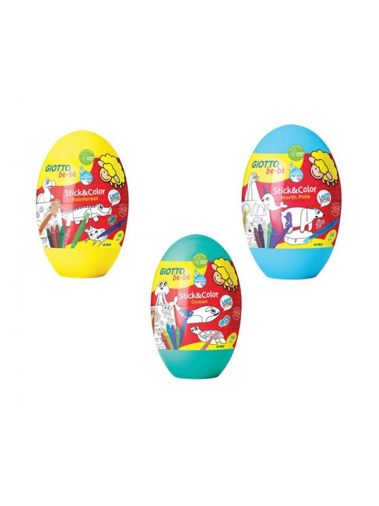 Rinkinys GIOTTO BE-BE STICK&COLOR kiaušinis