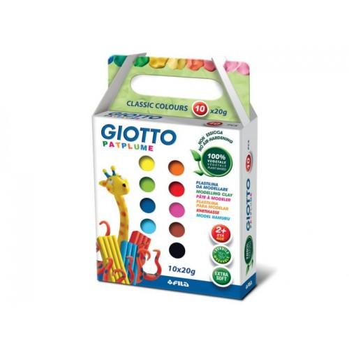 Plastilinas Giotto Patplume 10x20g classic
