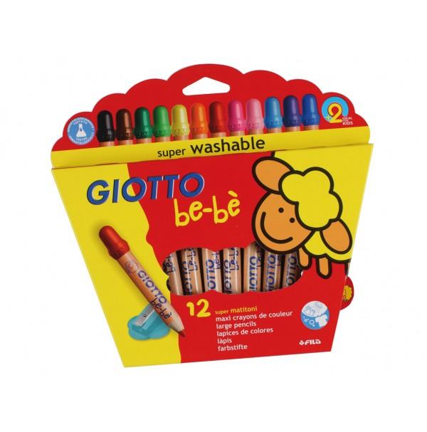 Spalvoti pieštukai Giotto be-be 12vnt.+ drožtukas