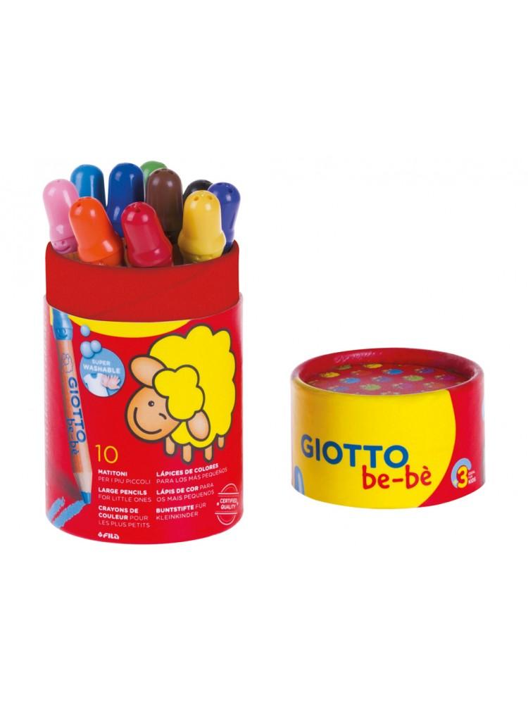 Spalvoti pieštukai Giotto be-be 10vnt. su indeliu