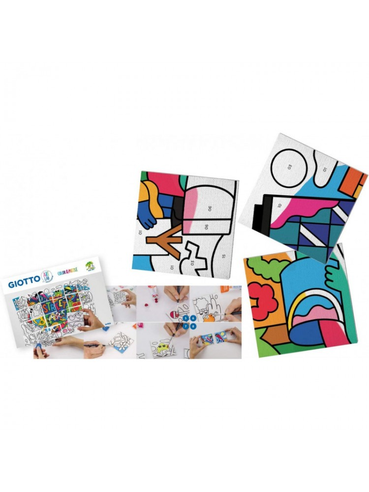 Rinkinys GIOTTO ART LAB Color & Puzzle