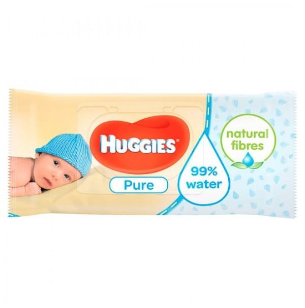 Huggies Pure drėgnos servetėlės 56vnt.