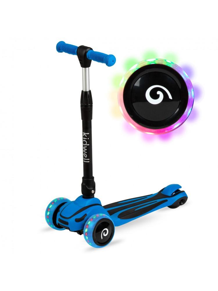 Paspirtukas su šviečiančiais ratais JAX, mėlynas