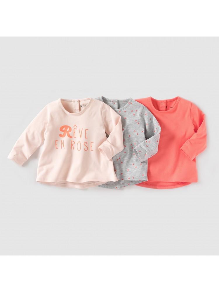 LaRedoute marškinėliai 3 vnt. ( kod. 01540 )