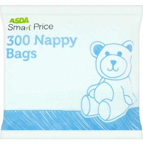 ASDA kvepiantys maišeliai naudotoms sauskelnėms – 300 vnt.