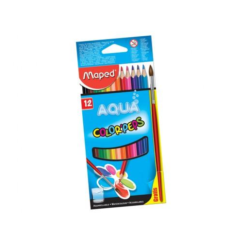 Spalvotas pieštukas ColorPeps 12vnt. + teptukas