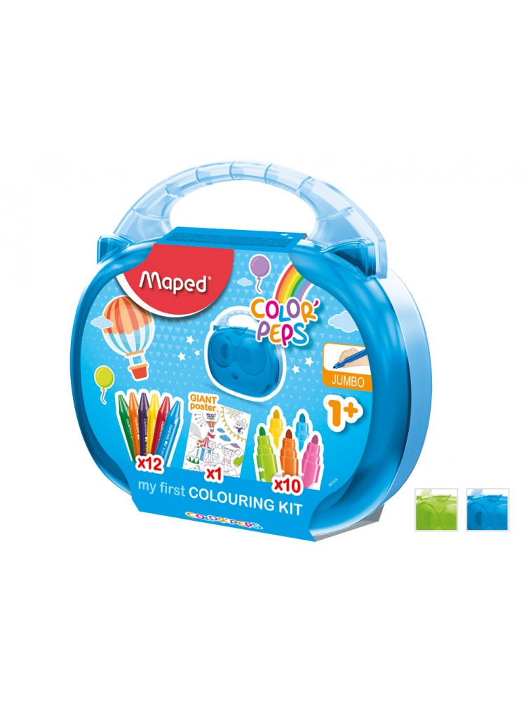 Piešimo reikmenų rinkinys ColorPeps My First lagaminėlyje rinkinys