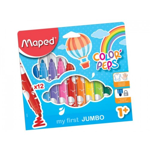 Flomasteris ColorPeps Early Age Jumbo 12vnt.