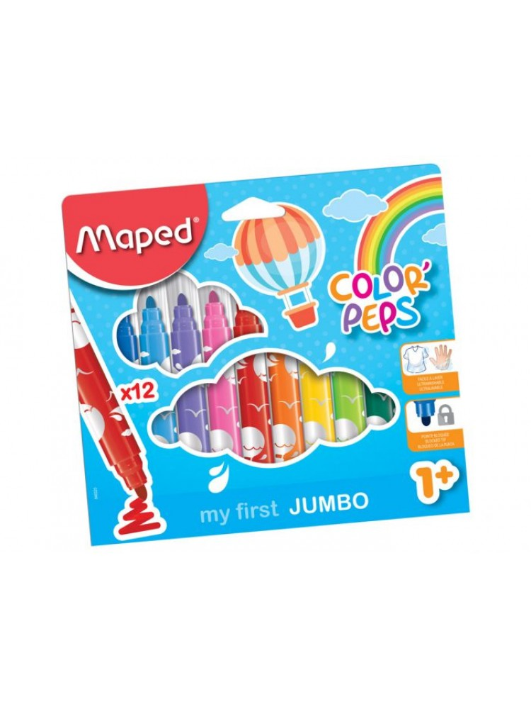 Flomasteris ColorPeps Early Age Jumbo 12vnt.