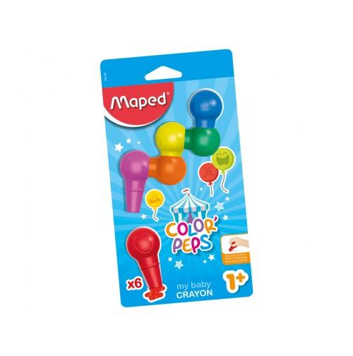 Plastikinės kreidelės ColorPeps My Baby 6vnt.
