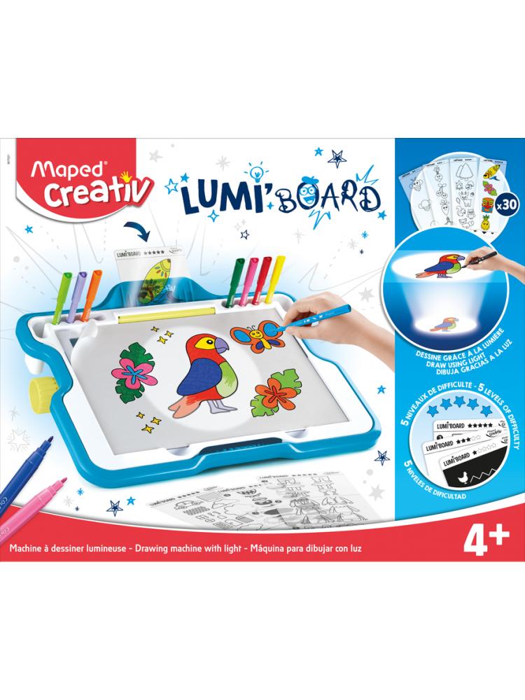 Šviečianti mokomoji lenta - lagaminas Maped creative LUMI' board