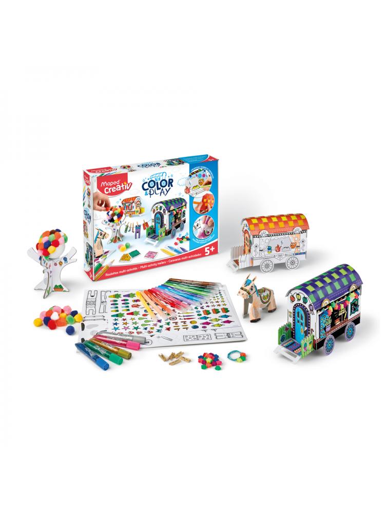 Meistravimo komplektas MAPED Creativ Color&Play Design my Carriages