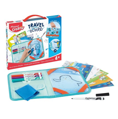 Piešimo rinkinys su lenta Maped Creativ Travel Board Animals