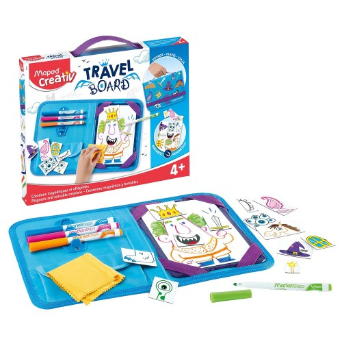 Piešimo rinkinys su magnetine lenta Maped Creativ Travel Board Knights and Princesses