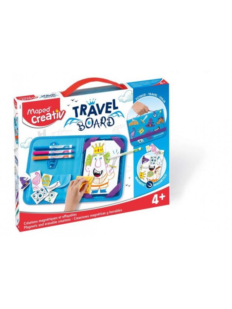 Piešimo rinkinys su magnetine lenta Maped Creativ Travel Board Knights and Princesses
