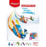 Gelinės kreidelės ColorPeps 6vnt. plastikinė dėžutė