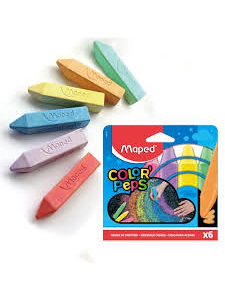 Kreidelės asfaltui Maped ColorPeps 6vnt.