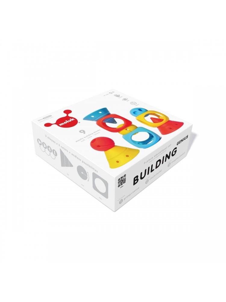 """Kūrybinis žaislų rinkinys """"Moluk Building Genius"""" - 9 vnt."""
