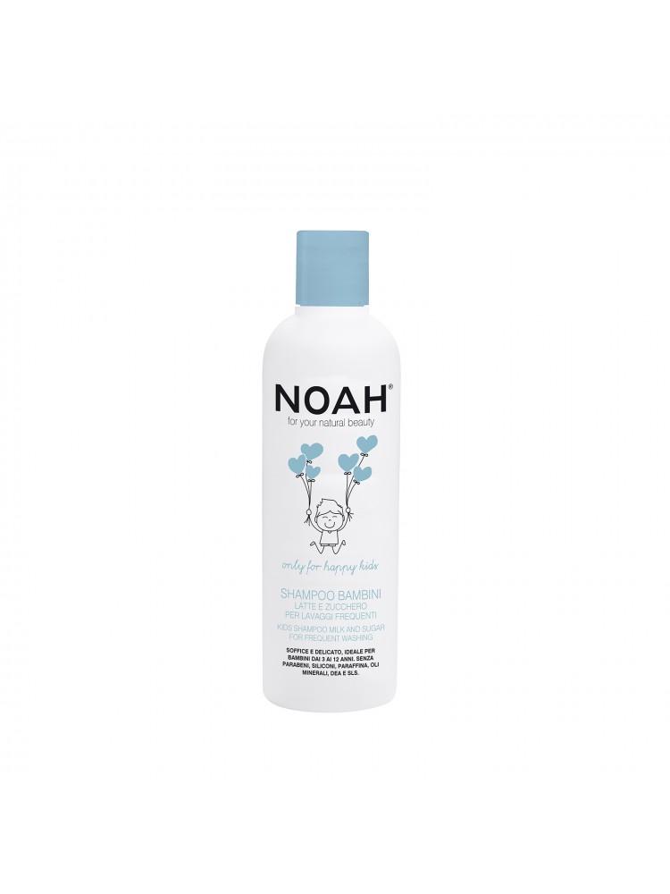 Vaikiškas maitinamasis šampūnas su pienu ir cukrumi dažnam naudojimui, 250ml, NOAH