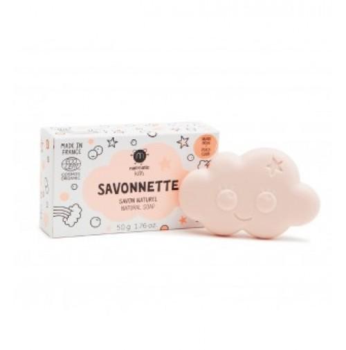 Cloud Organic Kids Soap Persikų kvapo muilas vaikams, 50g