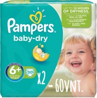 Pampers Baby – Dry sauskelnės 6+ dydis ( 14+ kg ) 60 vnt.