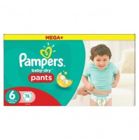 Pampers baby dry PANTS sauskelnės – kelnaitės 6 dydis ( 16+ kg ) 76 vnt.