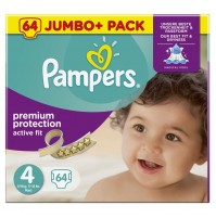 Pampers Active Fit sauskelnės 4 dydis ( 7 – 18 kg ) 64vnt.
