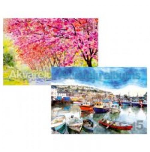Albumas akvarelei A4/15l. 210g/m2 HERMESS