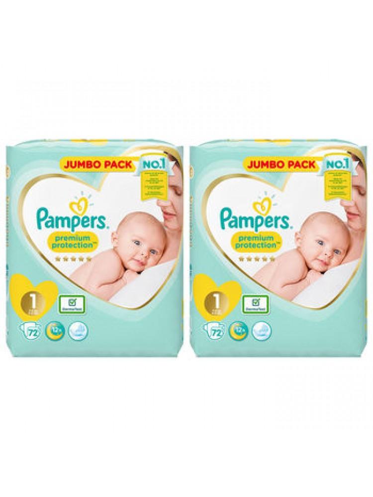Pampers Premium Protection 1nr. ( 2 – 5 kg ) 144vnt.