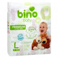 Sauskelnės BINO BABY PREMIUM L ( 9 - 14 kg ) 60vnt.  + paklotėlis DOVANŲ