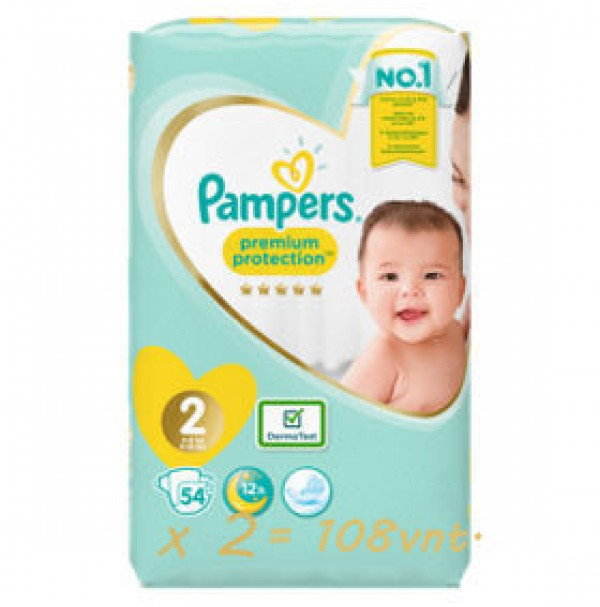Pampers Premium Protection 2nr. ( 4 – 8 kg ) 104vnt.