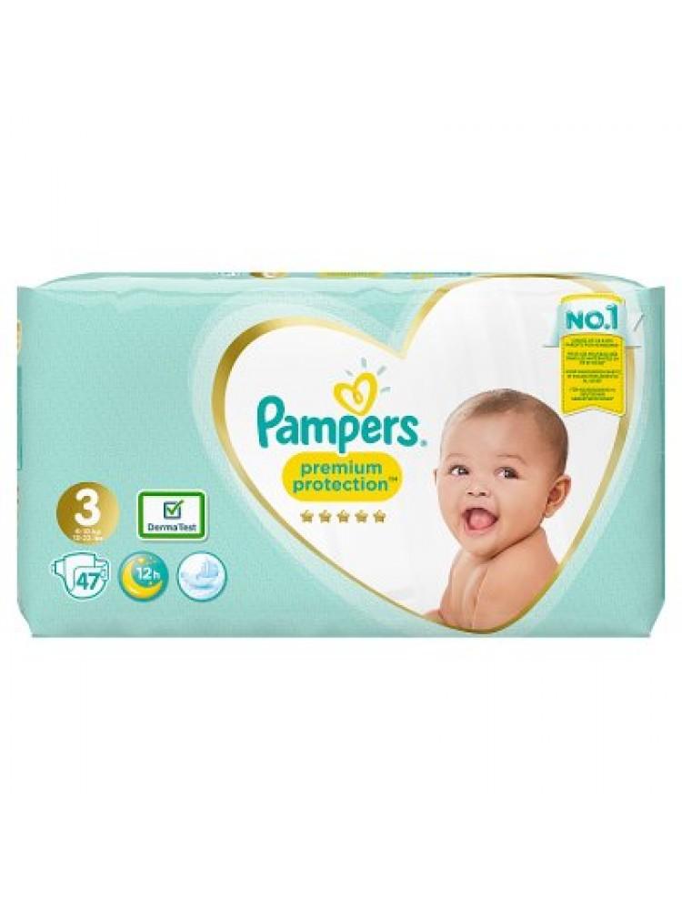 Pampers Premium Protection 3nr. ( 6 – 10 kg ) 47vnt.