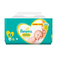 PAMPERS PREMIUM PROTECTION NEW BABY SAUSKELNĖS 1 DYDIS ( 2 – 5 KG ) 96 VNT.