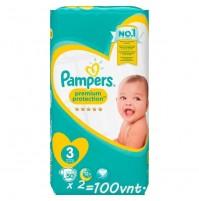 Pampers Premium Protection 3nr. ( 5 – 9 kg ) 100vnt.