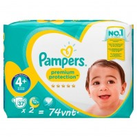 Pampers Premium Protection 4+ dydis ( 10 – 15 kg ) 74 vnt.