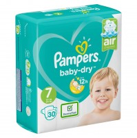 Pampers Baby – Dry sauskelnės 7 dydis ( 15+ kg ) 60 vnt.