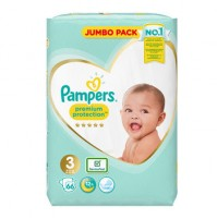 Pampers Premium Protection 3nr. ( 6 – 10 kg ) 66vnt.