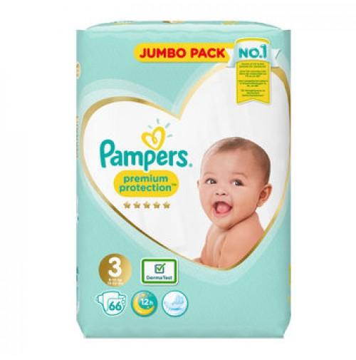 Pampers Premium Protection 3nr. ( 6 – 10 kg ) 66vnt.
