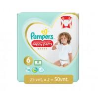 PAMPERS PREMIUM PROTECTION NAPPY PANTS 6 DYDIS ( 15+kg ) 50 vnt.