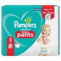 Pampers baby dry PANTS  sauskelnės – kelnaitės 5 dydis ( 12 – 17 kg ) 99 vnt.